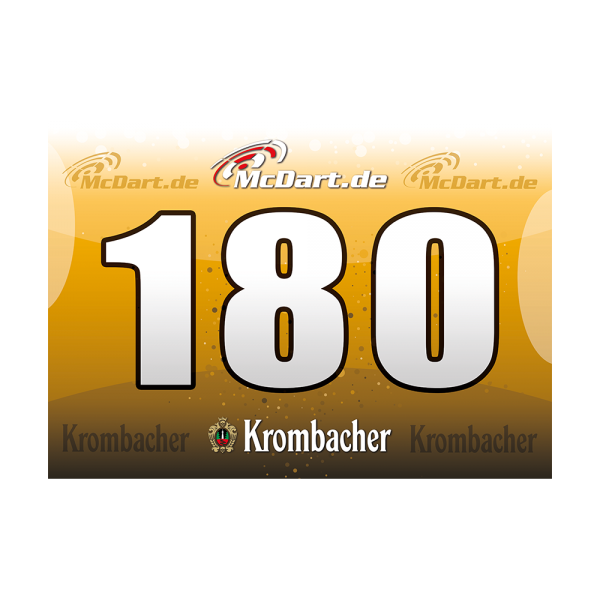 Krombacher 180er Schilder (10 Stk)