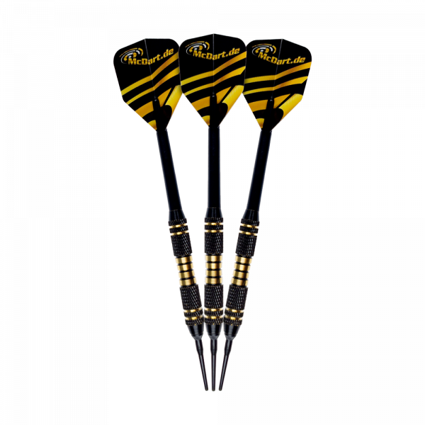 McDart Black/Gold Star Softdarts - 18g
