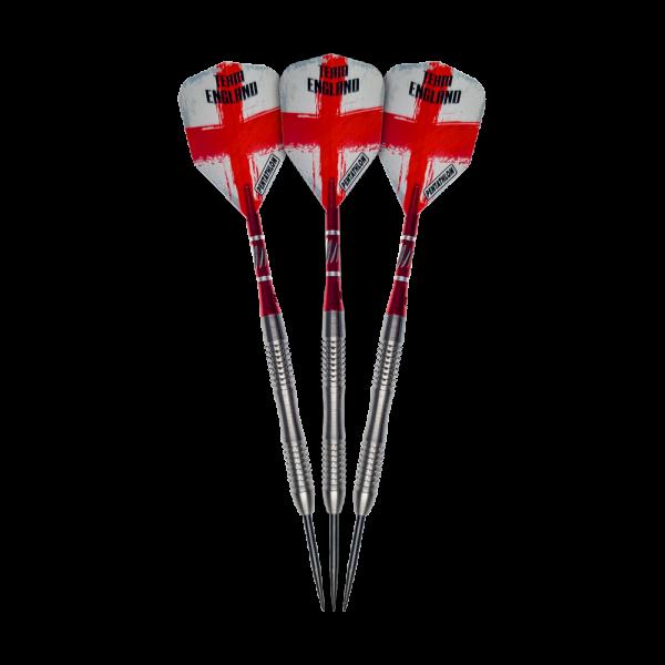Team England Giga Grip 2 Steeldarts - 24g