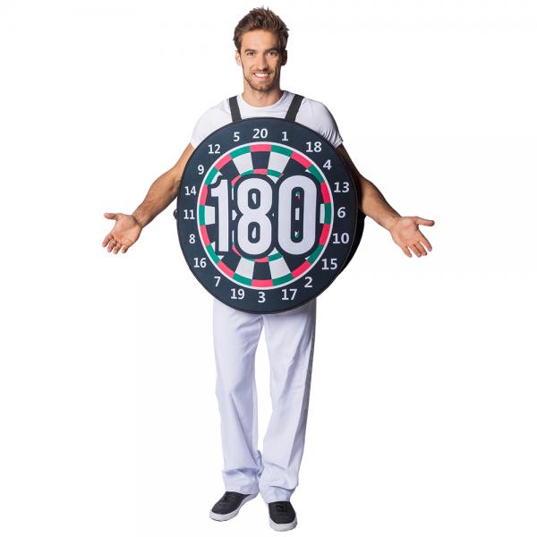 180er Kostüm Dartscheibe
