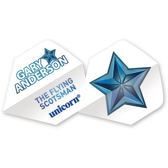 5 Satz Unicorn Authentic 100 Gary Anderson Star Flights