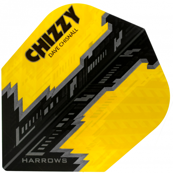 5 Satz Harrows Dave Chisnall Prime Flights - gelb/schwarz